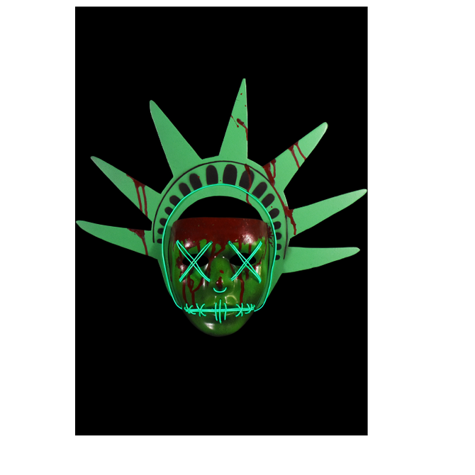 The Purge- Election Year Lady Liberty Light Up Mask