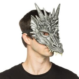 Supersoft Silver Sentinel Dragon Mask