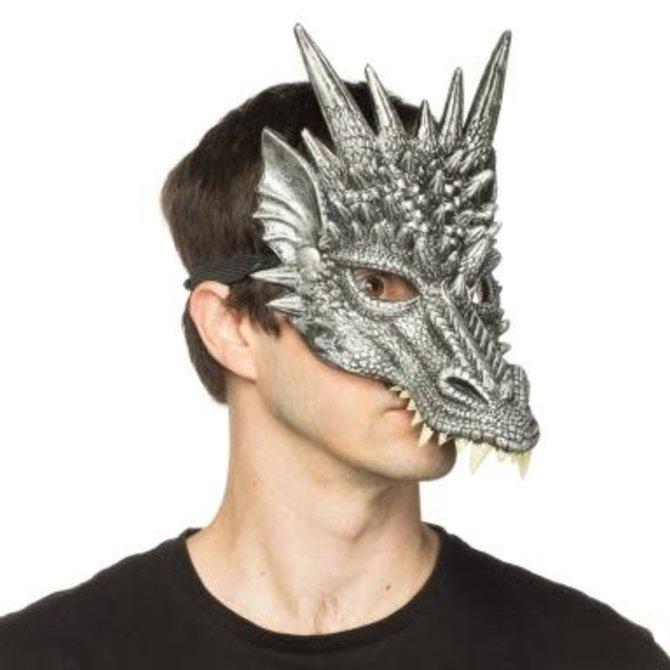 Supersoft Silver Sentinel Dragon Mask