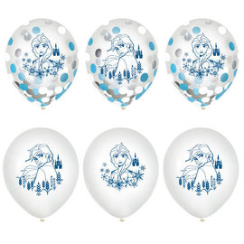 "©Disney Frozen 2 12"" Confetti Latex Ballons, 6ct"