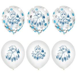 """©Disney Frozen 2 12"""" Confetti Latex Ballons, 6ct"""
