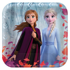 "©Disney Frozen 2 Square Paper Plates, 9""- 8ct"