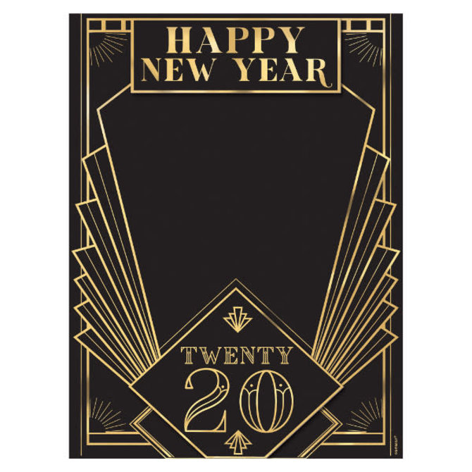2020 Roaring 20's Chalkboard Easel Sign