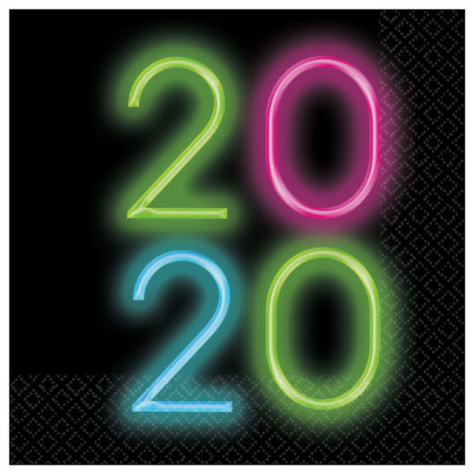 2020 New Year's Glow Luncheon Napkins- 36ct