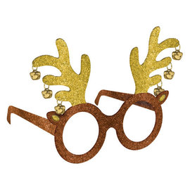 Reindeer Glasses-Glitter