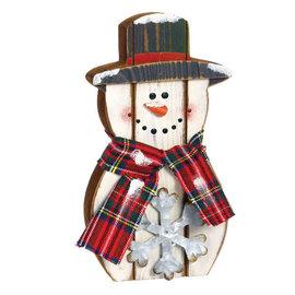 """Standing Snowman -10"""" x 7 1/2"""""""