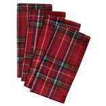 """Plaid Fabric Napkins -18"""" x 18"""", 4 in a package"""