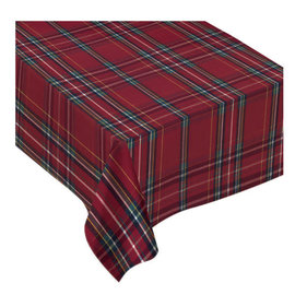 "Christmas Plaid Fabric Table Cover, 60"" x 84"""