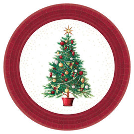 "Oh Christmas Tree Round Plates, 9"" -60ct"