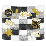 New Year's Fringe Backdrop w/Cutouts - 9ct