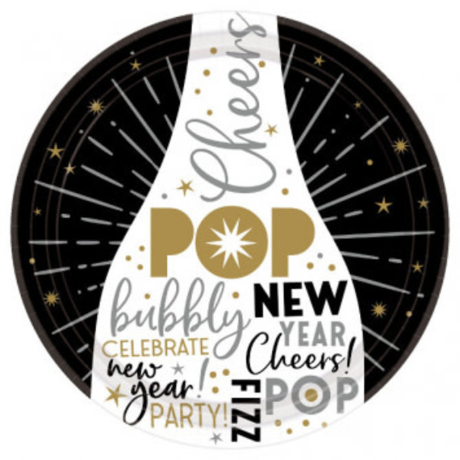 """Celebrate The New Year Round Plates, 7"""" 60ct"""