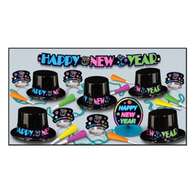Neon Party NYE Assortment for 10
