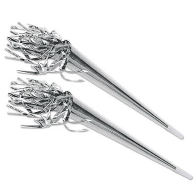 "Silver Tasseled Trumpets 25"" (1ct)"