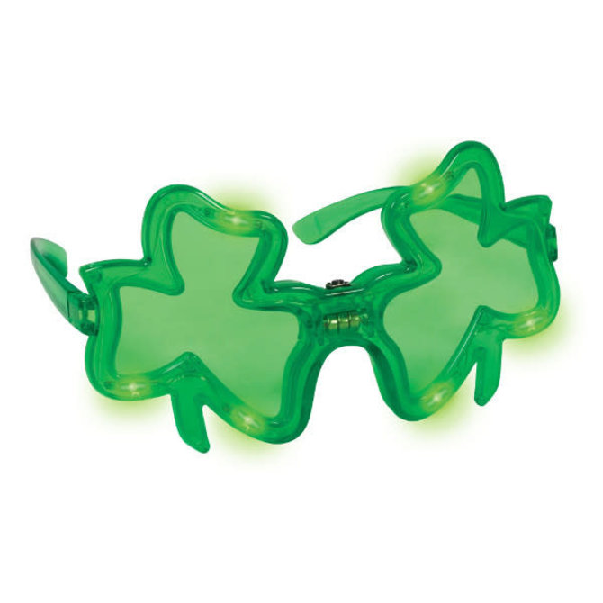 St. Patrick's Day Light-Up Shamrock Glasses
