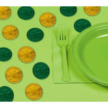 Green & Gold Coin Plastic Table Sprinkles 100ct