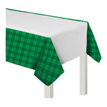 St. Patrick's Day Plaid Plastic Tablecover