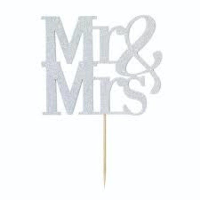 Mr & Mrs. Cake Topper