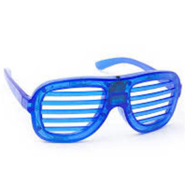 LED Slotted Glasses - Blue