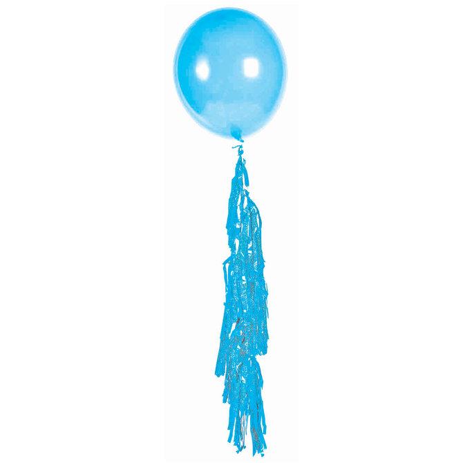 Large Balloon Tassel Turquoise