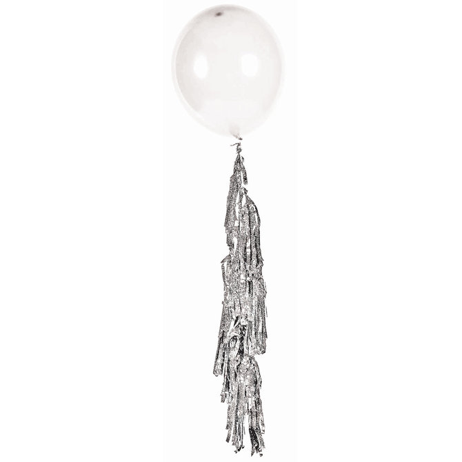 Large Balloon Tassel Silver
