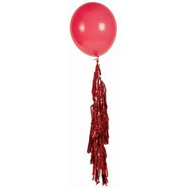 Large Balloon Tassel Red
