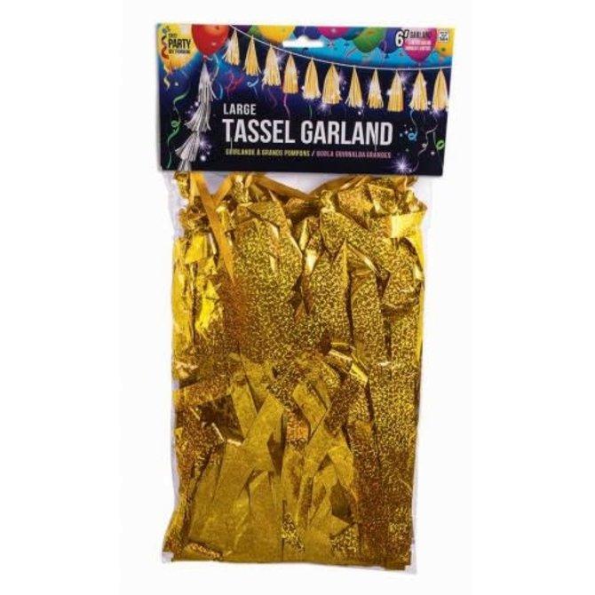 Large Balloon Tassel Gold