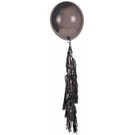 Large Balloon Tassel Black