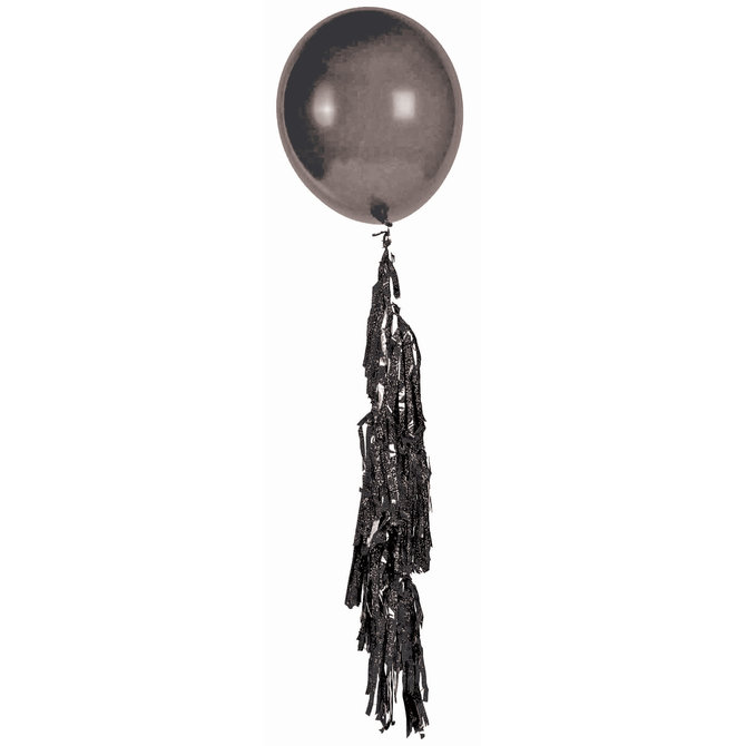 Large Balloon Tassel Black