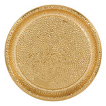 """Hammered Plastic Tray - Gold 16"""""""
