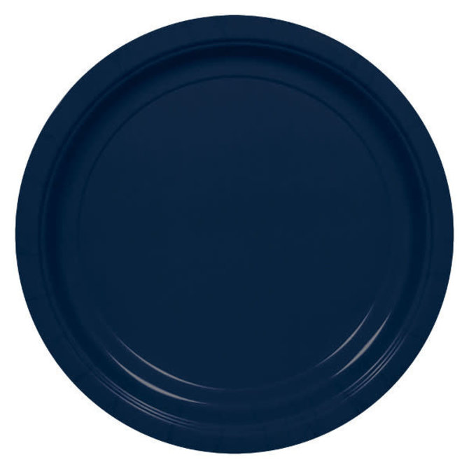 "Big Party Pack Navy Paper Plates, 7""- 50ct"