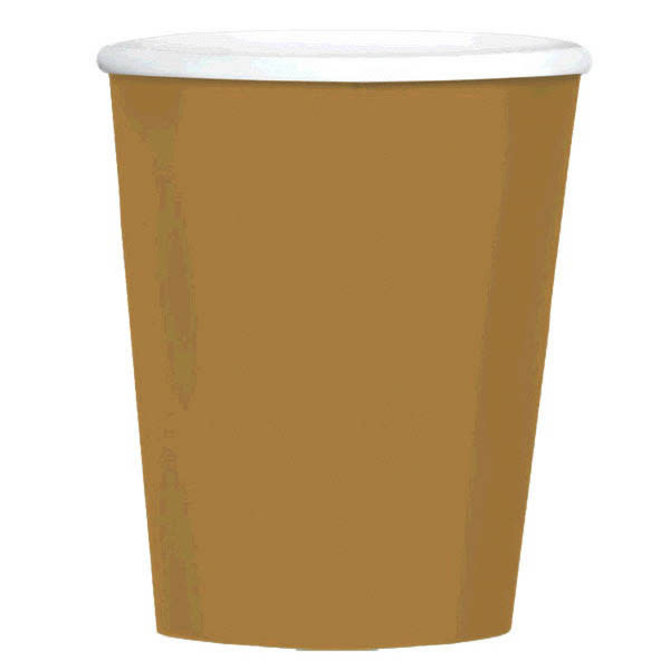 Big Party Pack Paper Coffee Cups - Gold, 40ct