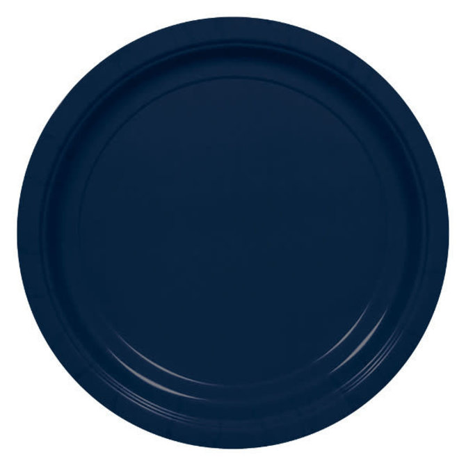 """Big Party Pack Navy Paper Plates, 9""""- 50ct"""