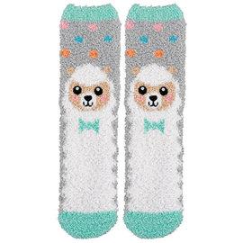 Easter Fuzzy Socks - Lamb