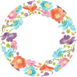 "Spring Has Sprung Round Plates, 6 3/4"" -40ct"