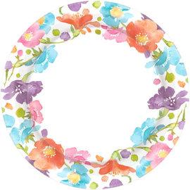 "Spring Has Sprung Round Plates, 10"" -40ct"