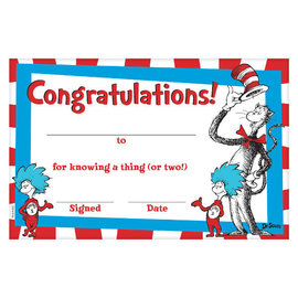Cat In The Hat Certificates, 36ct