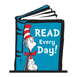 Dr. Seuss Desktop SIgn w/Base- Read Every Day!