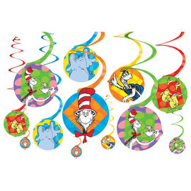 Dr. Seuss Value Pack Paper Swirl Decorations