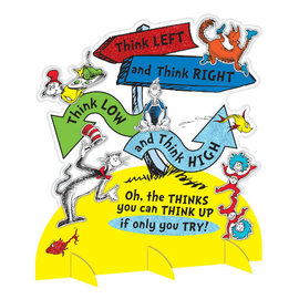 Dr. Seuss Directional Sign Table Decoration