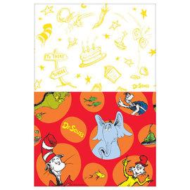 """Dr. Seuss Plastic Table Cover, 54"""" x 96"""""""