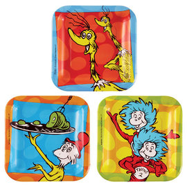 "Dr. Seuss 7"" Square Paper Plates, 8ct"
