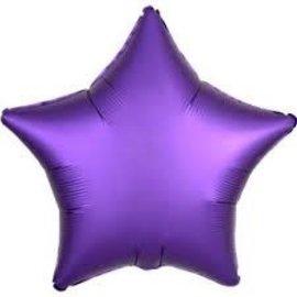 """Chrome Purple Star Foil Balloon, 19"""""""