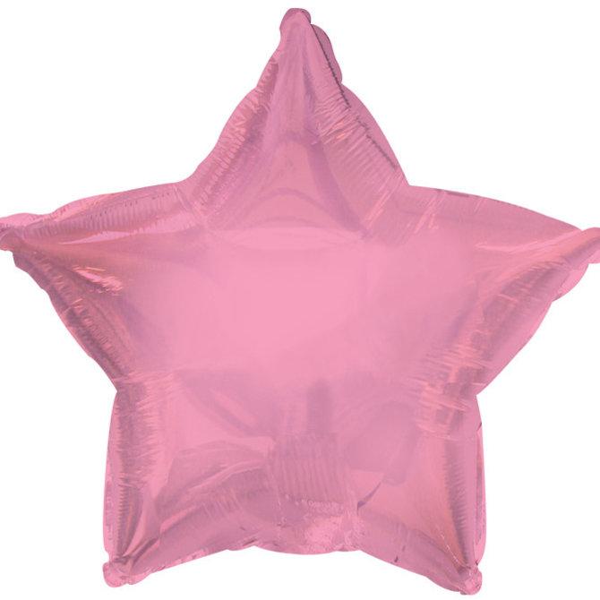 "Chrome Pink Star Foil Balloon, 19"""