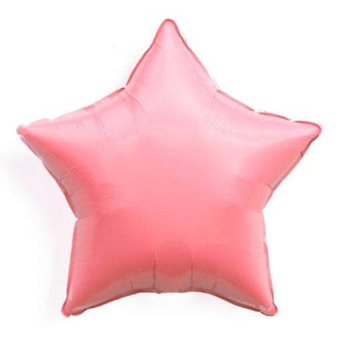"""Coral Star Foil Balloon, 19"""""""