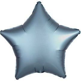Chrome Blue Star Foil Balloon, 19""
