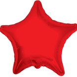 "Chrome Red Star Foil Balloon, 19"""