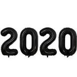 """2020 Black Foil Balloon Set, 40"""""""