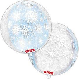 "Frozen Snowflakes Orbz, 16"" (#235)"