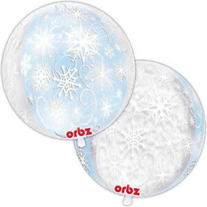 "Frozen Snowflakes Orbz, 16"""