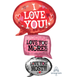 "53"" Love Bubbles Giant Foil Balloon"